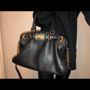Authentic Michael Kors Black leather bag